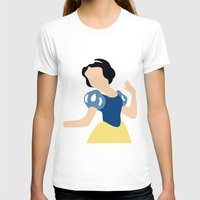 snow white T-shirts featuring Snow White by Adrian Mentus