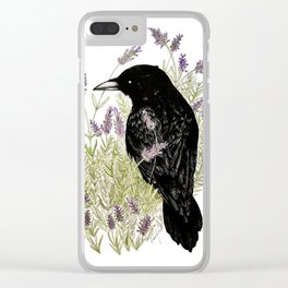 Relax Raven Clear iPhone Case