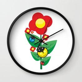 Ladybugs on Flowers #society6 #decor #buyart #artprint Wall Clock