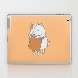 Bull Terrier Hugs Laptop & iPad Skin