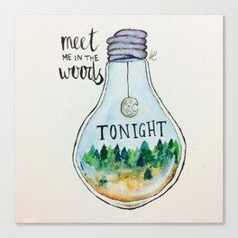 "Lord Huron lyrics ""Meet me in the woods tonight."" Canvas Print"