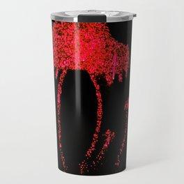 Shrooms Red Travel Mug
