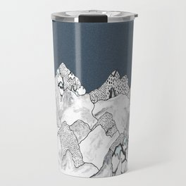 At night in the mountains Travel Mug