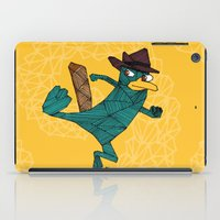 platypus iPad Cases featuring My Perry the Platypus by TheCore