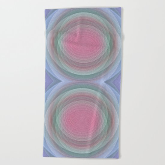 Patterns, Pastels and Motion Abstract Beach Towel