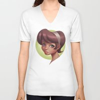 dot V-neck T-shirts featuring Dot by Shelly Soneja