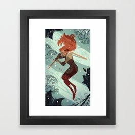 2 of Swords Framed Art Print