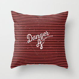Danger Adventure Throw Pillow