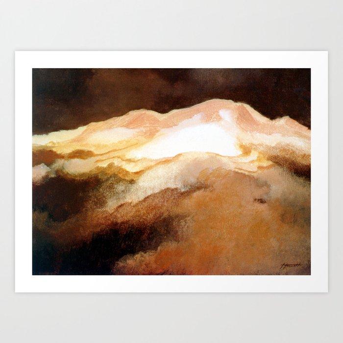 Ruapehu Sunset Art Print
