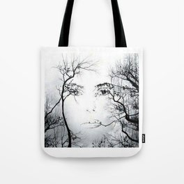 face in the trees Tote Bag