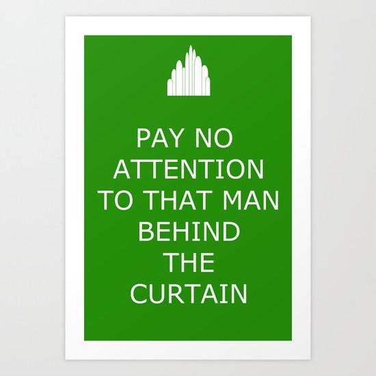 Keep Calm in the Emerald City 2 Art Print
