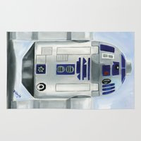 r2d2 Area & Throw Rugs featuring Lego R2D2 by Toys 'R' Art