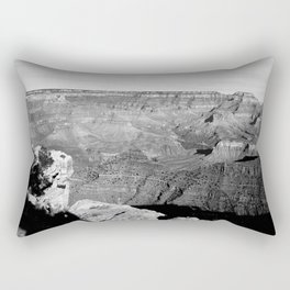 The Grand Canyon in Black and White Rectangular Pillow