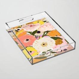 Spring Floral Acrylic Tray