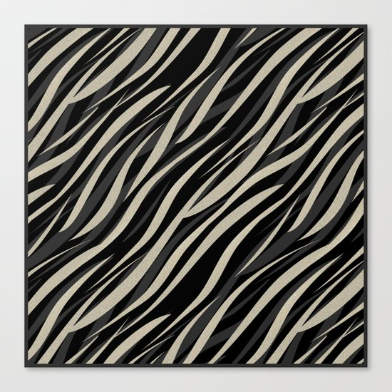 Tiger abstract striped pattern . Canvas Print