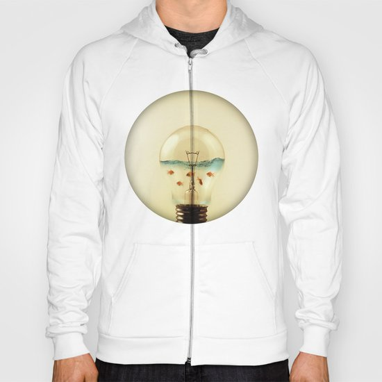 gold fish globe Hoody