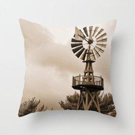 Power Wind Mill Throw Pillow