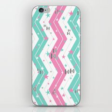 Tie Fighters and Chevrons in Pink and Pool iPhone & iPod Skin
