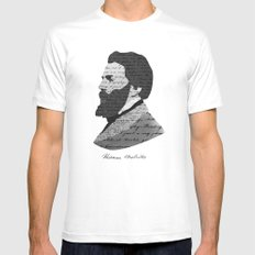 Herman Melville Mens Fitted Tee White MEDIUM