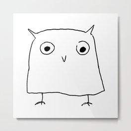 Owl Doodle Metal Print