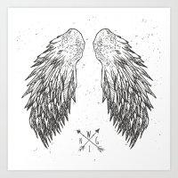 wings Art Prints featuring wings by Julia