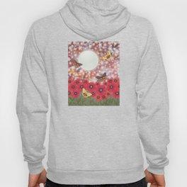 the moon, stars, io moths, & poppies Hoody