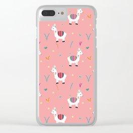 Alpaca-corn Clear iPhone Case