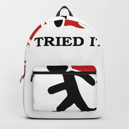 I Tried It Home Science Black Backpack