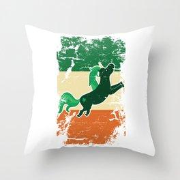 Distressed Irish Flag St Patrick Unicorn Throw Pillow