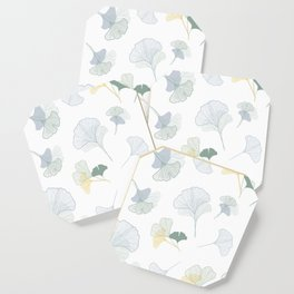 ginkgo biloba leaves pattern Coaster