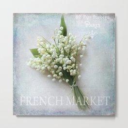 french market Metal Print