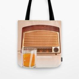 Radio & Whiskey Tote Bag