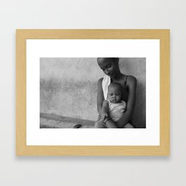 A Young Mother Framed Art Print