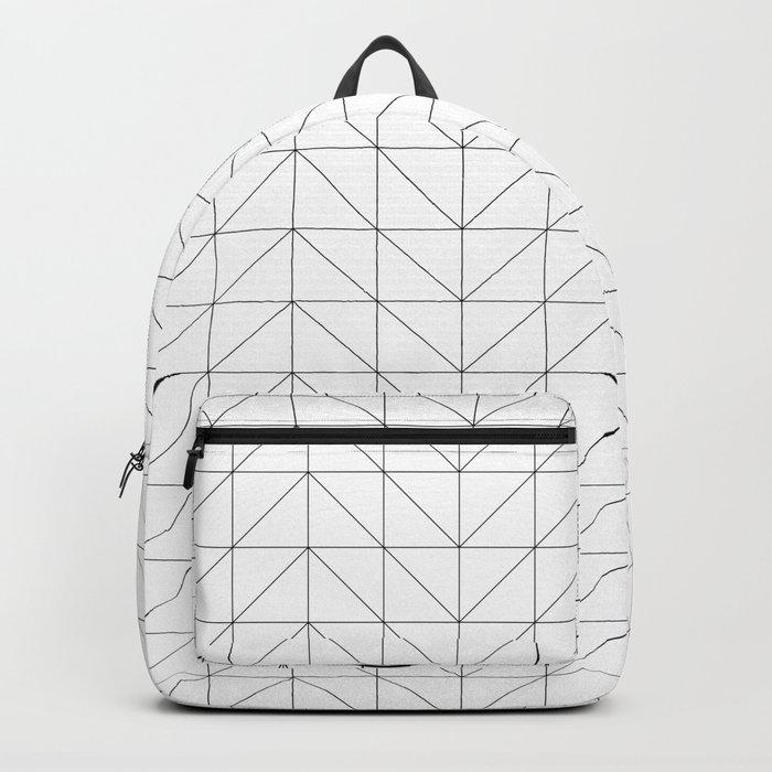 Scandi Grid Backpack