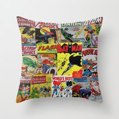 Comic Pile 1 Throw Pillow