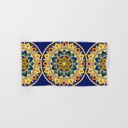 Italian Tile Pattern – Peacock motifs majolica from Deruta Hand & Bath Towel