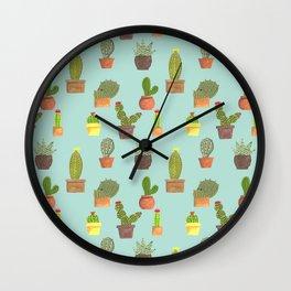 Potted Desert Garden Wall Clock