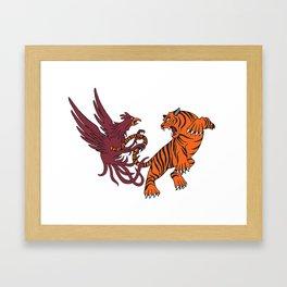 Cocks vs Tigers Framed Art Print