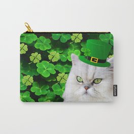 St. Patrick's Day Irish Cat Carry-All Pouch