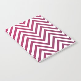 Geometric Lines Pattern Magenda Notebook