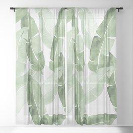Tropical Leaves 2 Sheer Curtain