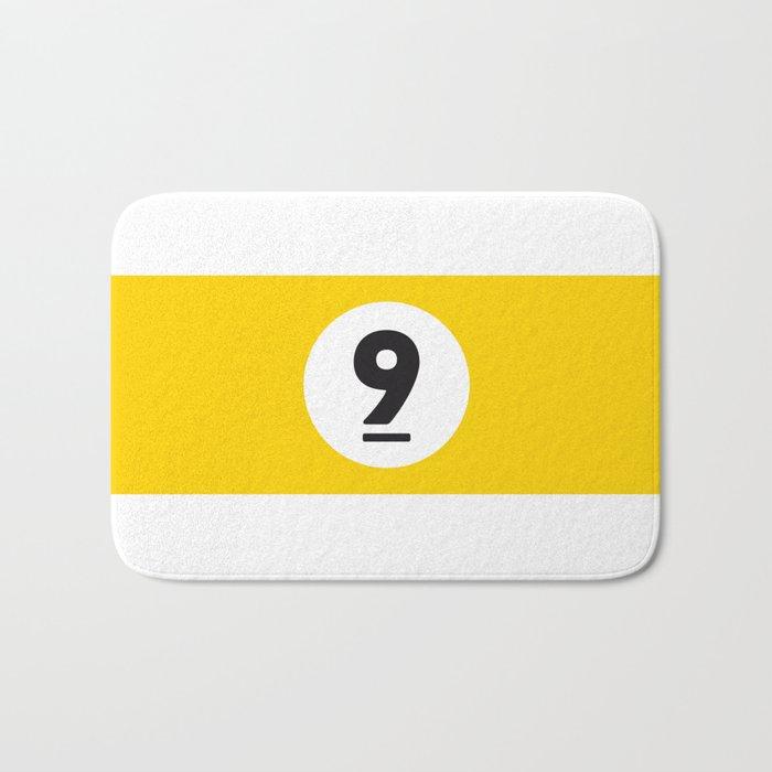 9 ball yellow Bath Mat