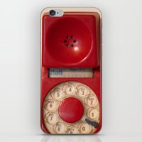 hotline miami iPhone & iPod Skins featuring Hotline by bomobob