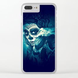 Skull1 Clear iPhone Case