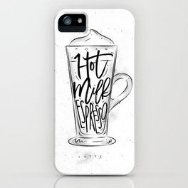 Coffee latte cup iPhone Case
