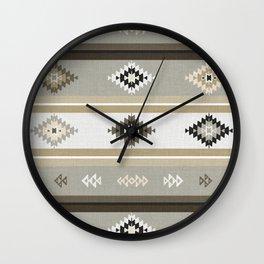 Neutral Kilim Wall Clock