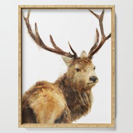Winter Red Deer Serving Tray