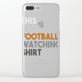 This is My Watching Football Product  Clear iPhone Case