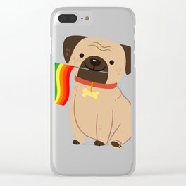 LGBT Gay Pride Flag Pug - Pride Gay Clear iPhone Case