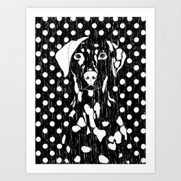 Dog and dot Art Print